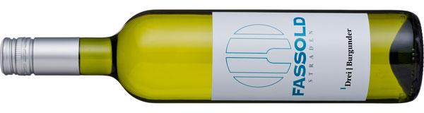 Drei | Burgunder - Flasche horizontal