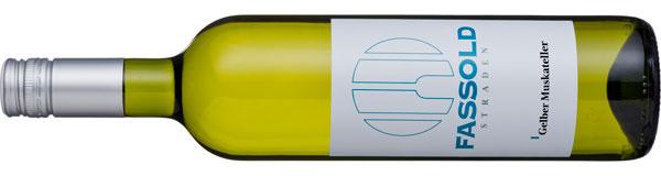 Gelber Muskateller - Flasche horizontal