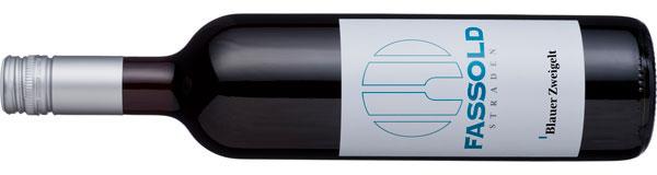 Blauer Zweigelt - Flasche horizontal