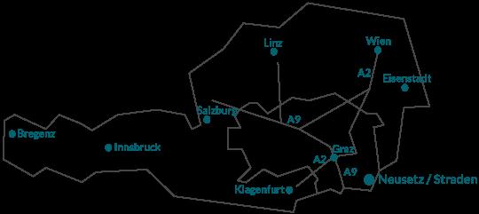 Österreich - Lageplan